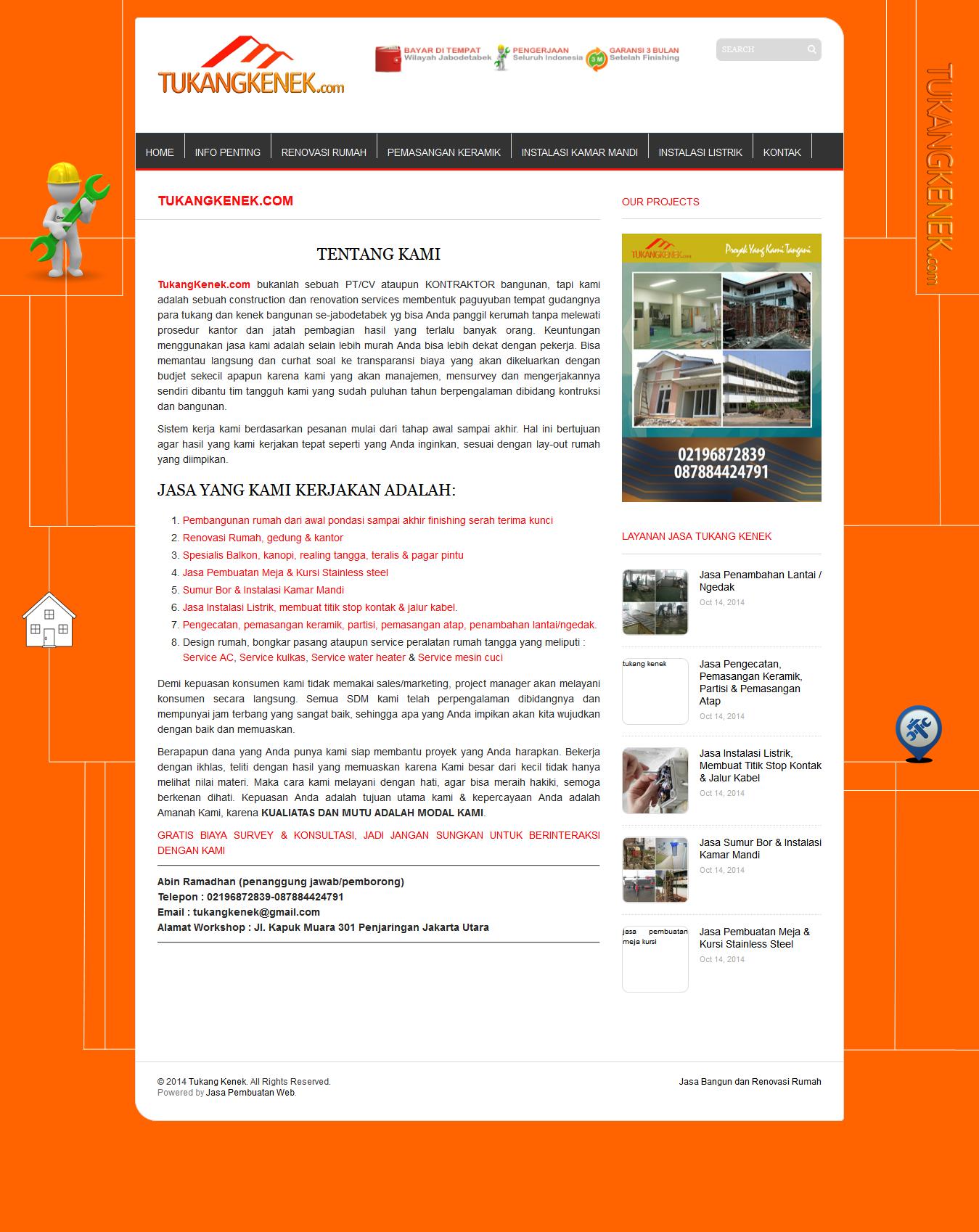 Http Www Tukangkenek Com Paket Hemat Company Profile Dari Http Www Zituz Com Dibuat Untuk Bapak Abin Yang Mengelola Bisnis Jasa Dari Para Tukang Kabel Muara
