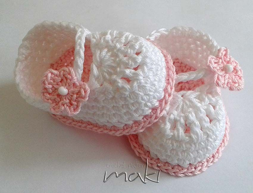 FREE CROCHET PATTERN: Super cute Mini booties - Maki Crochet ...