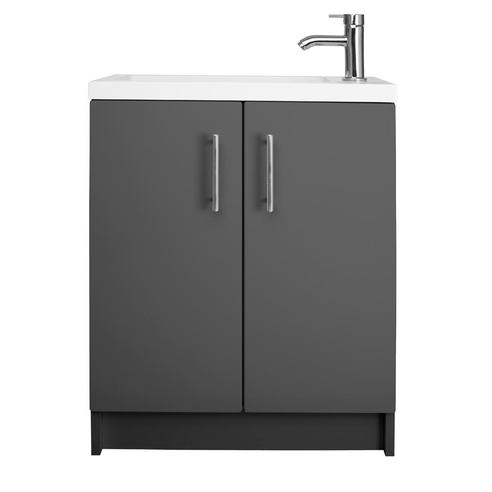 Cleveland 500 Basin And Gloss Grey Wall Mounted Vanity Unit | bathstore