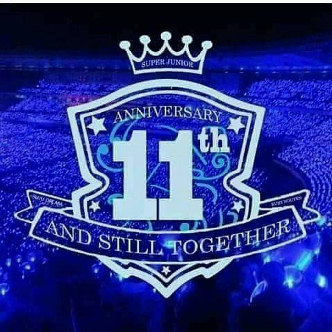 Happy 11th Anniversary Super Junior C Happy 11th Anniversary 11th Wedding Anniversary Gift 11th Anniversary Gifts