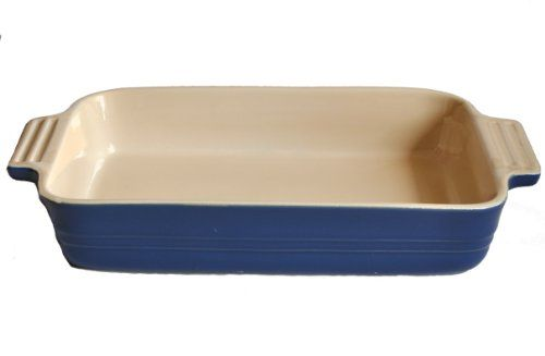 Le Creuset Stoneware 1012by7inch Rectangular Baking Dish Blue Want To Know More Click On The Image This Is An Le Creuset Stoneware Baked Dishes Stoneware Le creuset rectangular baking dish