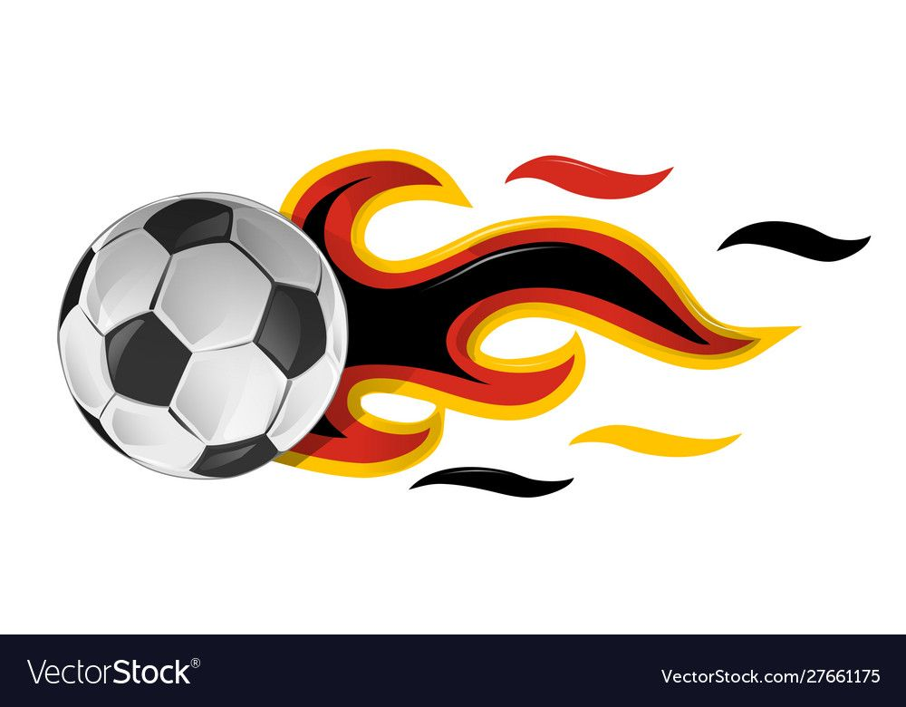 Soccer Ball On Fire With Germany Flag Royalty Free Vector Sponsored Fire Germany Soccer Ball Ad Vector Background Pattern Vector Free Flag Vector