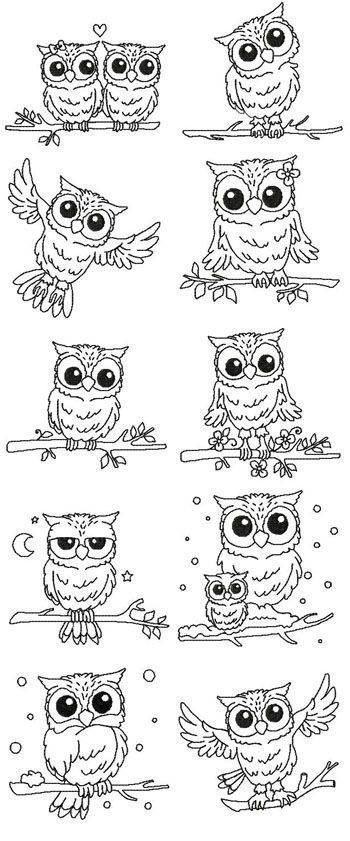 Owl Drawing Sketches More Buho Dibujo Buhos Animales Patrones