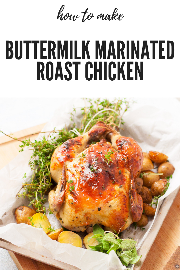 Buttermilk Roast Chicken Moist Tender Sunday Roast Recipe Recipe Roast Chicken Recipes Healthy Chicken Recipes Chicken Recipes