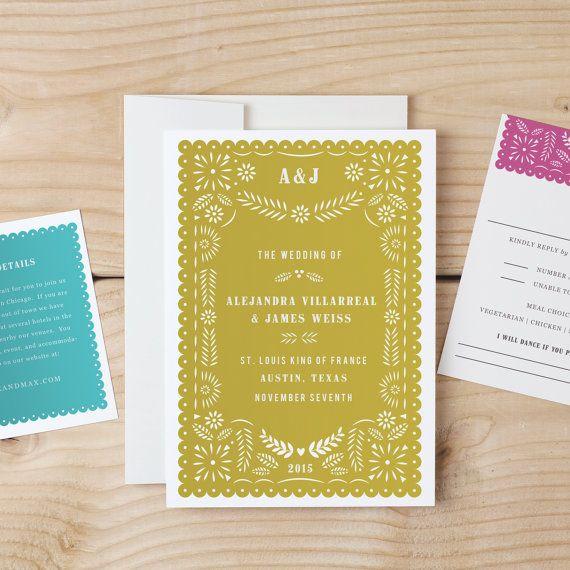Instant download printable wedding invitation template papel instant download printable wedding invitation template papel picado word or pages mac or stopboris Choice Image