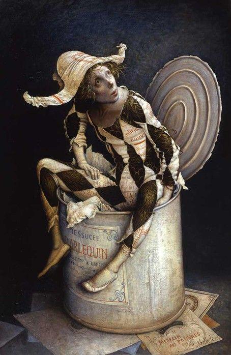 welovepaintings:    VERLINDE, Claude  Ressuce d'arlequin