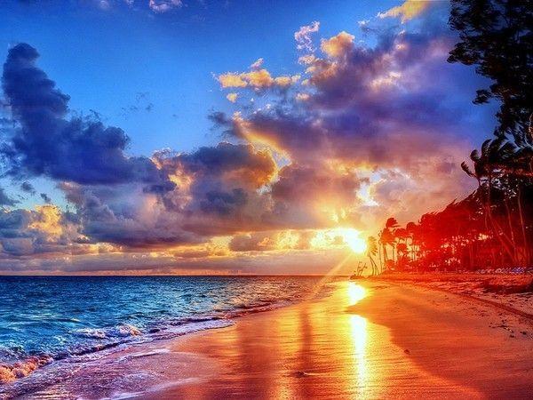 Paysages coucher de soleil pinterest - Coucher de soleil rose ...