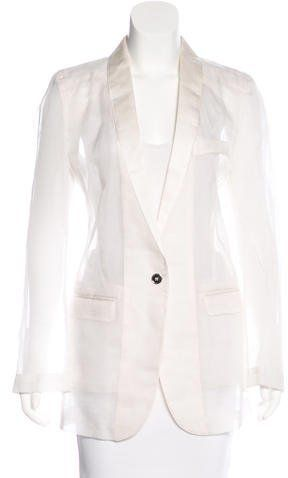 Dolce & Gabbana Shawl Collar Single-Button Blazer