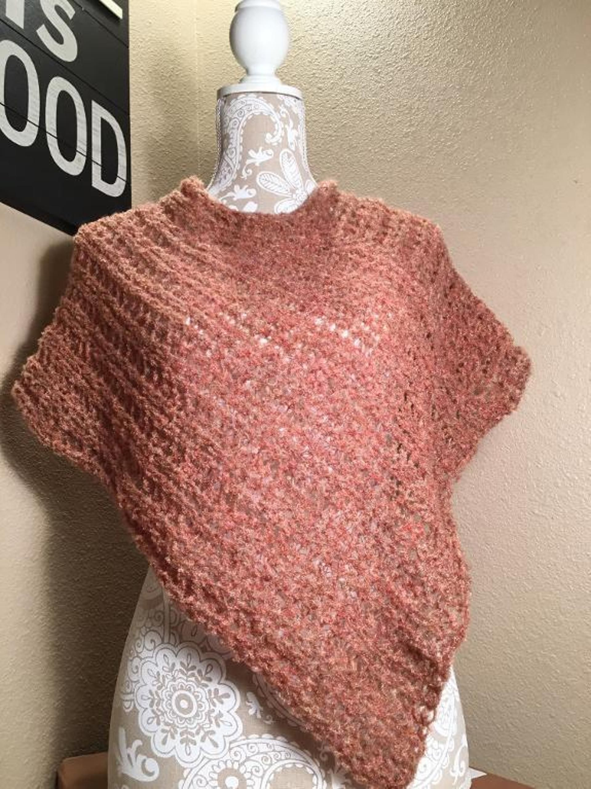 Impatient For Summer Poncho Loom Knit Pinterest Ponchos Loom