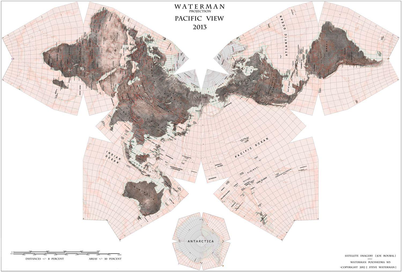 Waterman Butterfly World Map Would Make A Beautiful Mural Powder