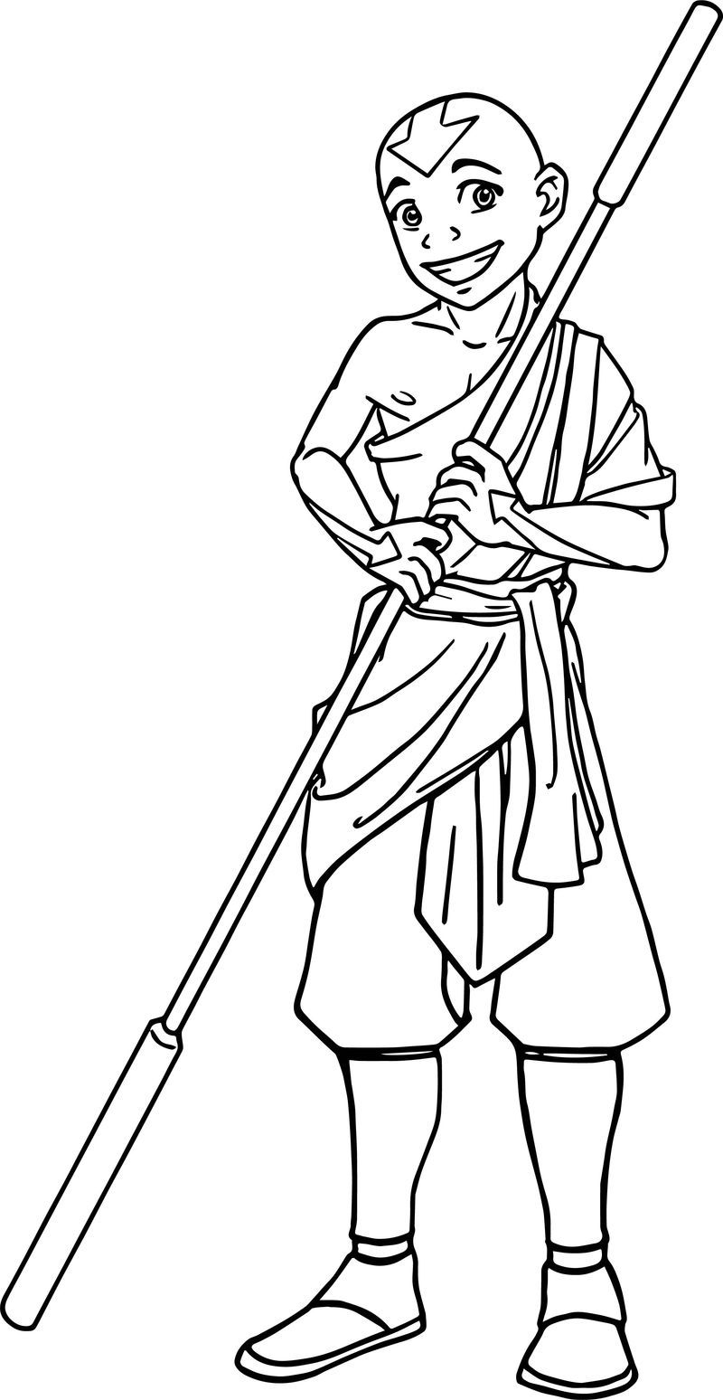 Aang Commission Amiraelizabeth Dsnou Avatar Aang Coloring Page Cartoon Coloring Pages Avatar Aang Hello Kitty Colouring Pages