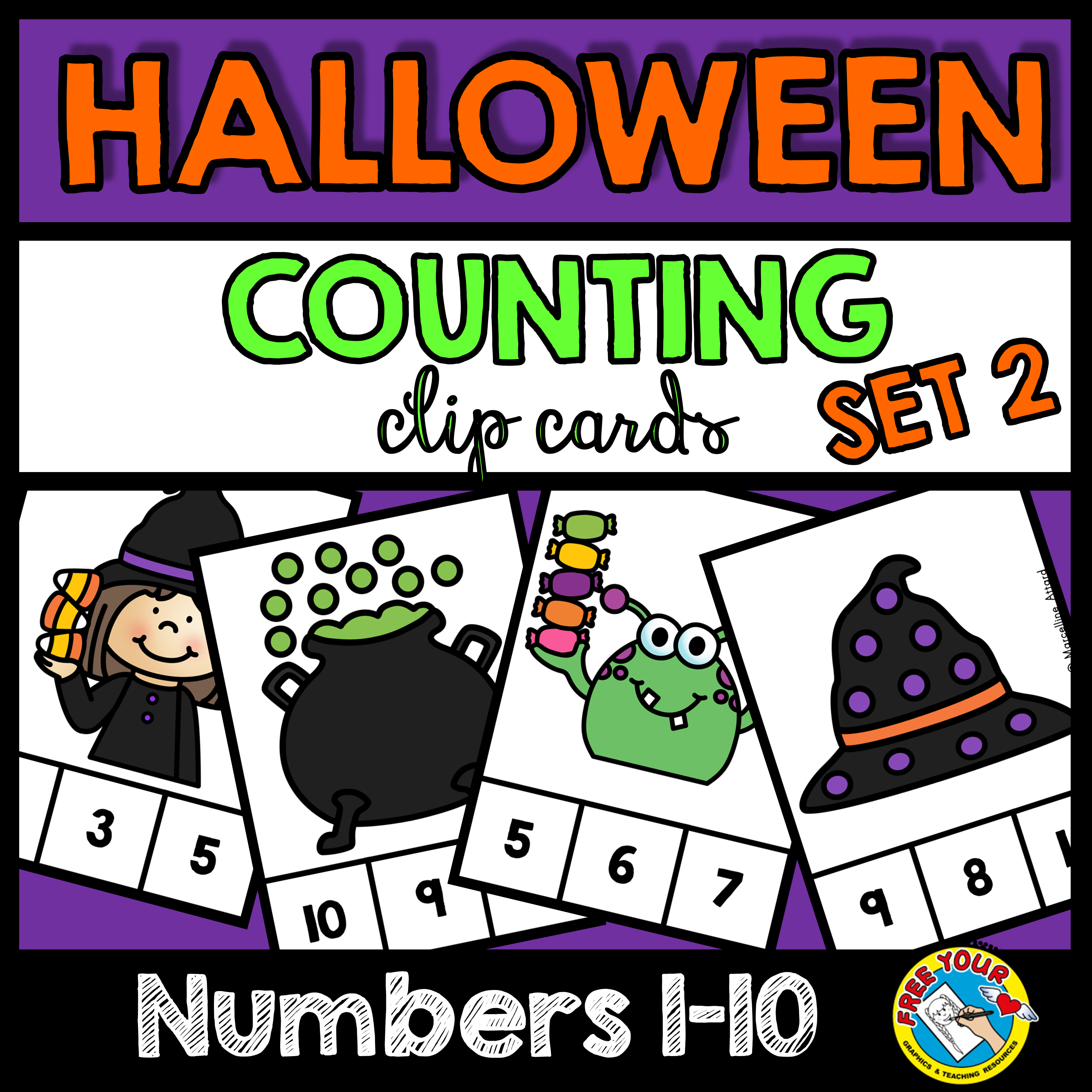 Halloween Math Centers Kindergarten Counting October