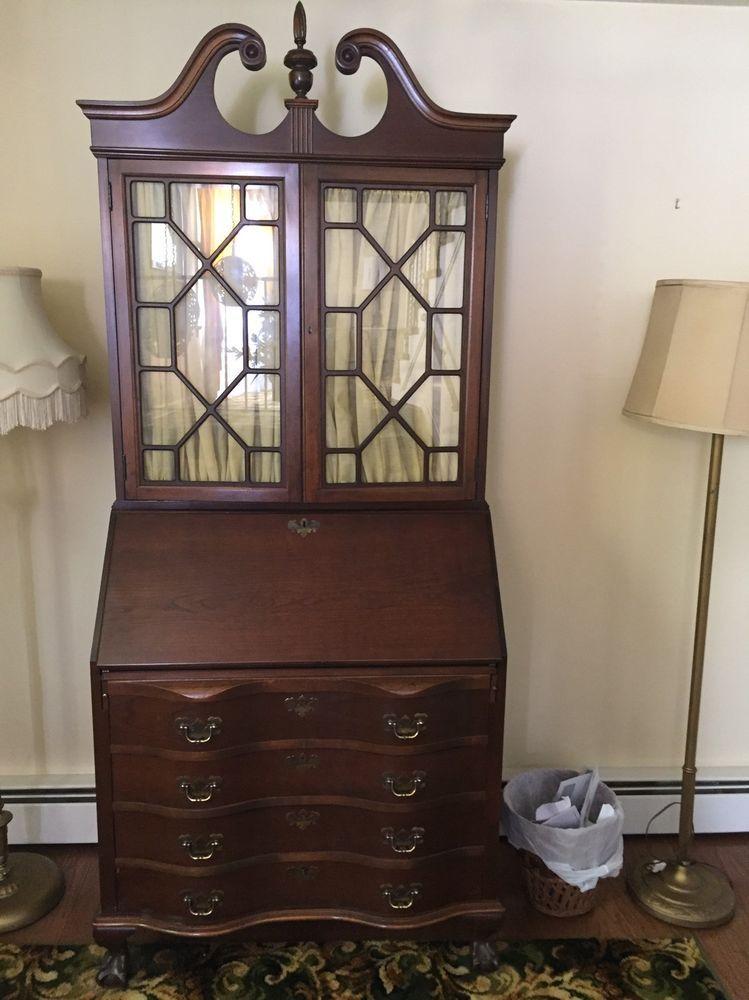 Vintage Mahogany Ball And Claw Feet Secretary Desk Maddox