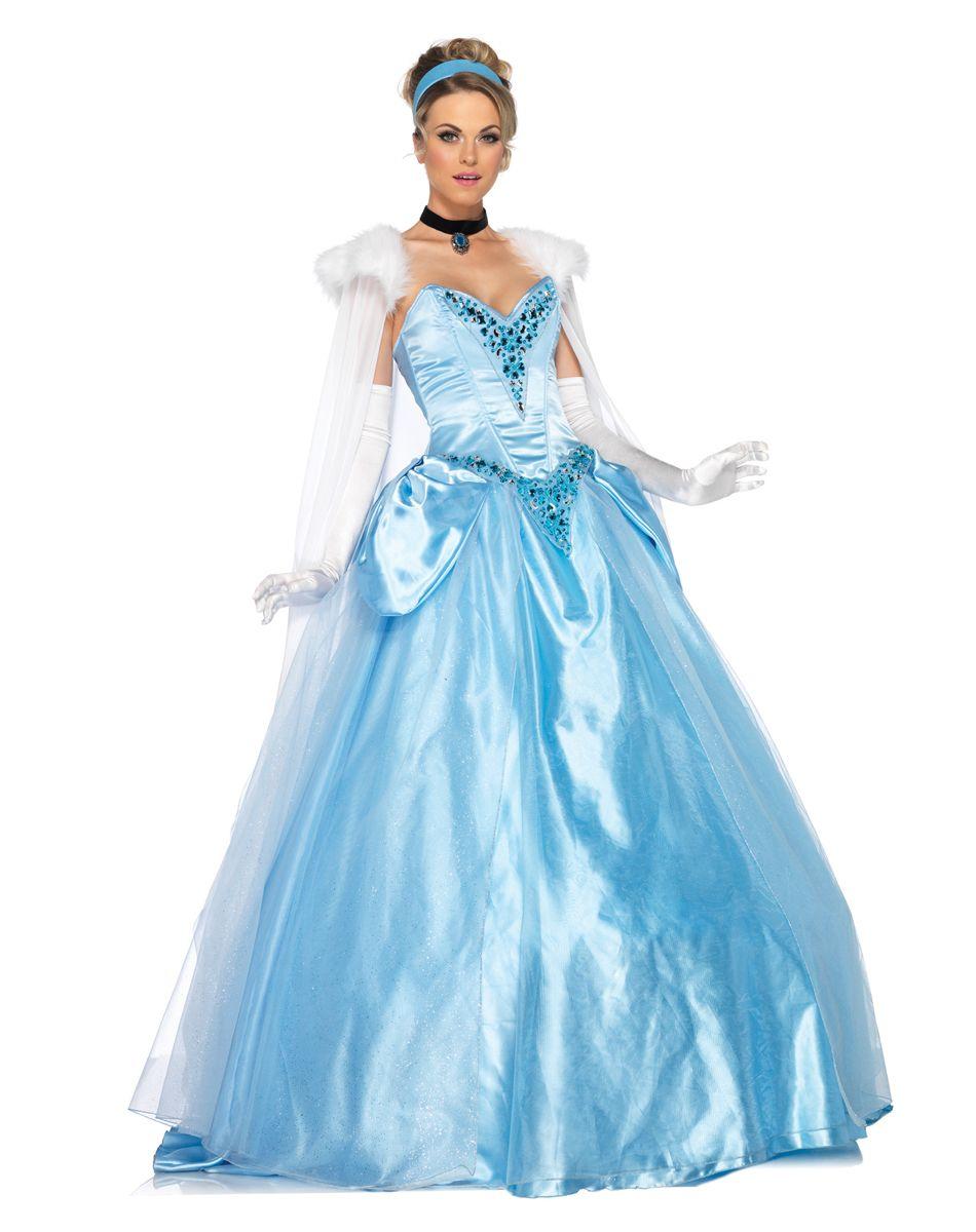 Disney Princess Cinderella Deluxe Adult Womens Costume ...