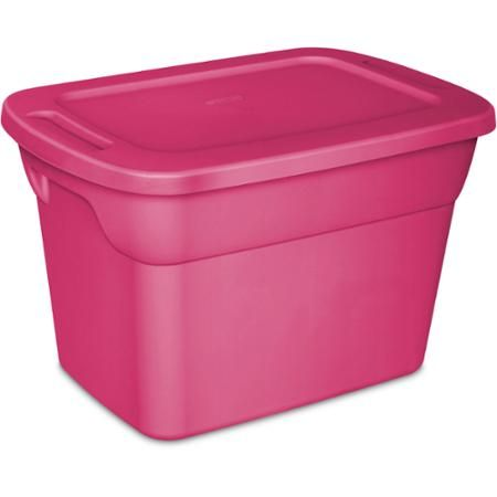Sterilite 10 Gallon Tote Fuchsia Burst Case Of 9 Walmart Com