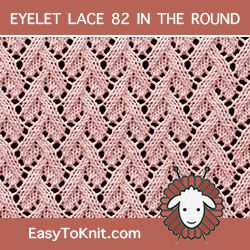 Eyelet Lace 82 in the round | Lace knitting patterns, Lace ...