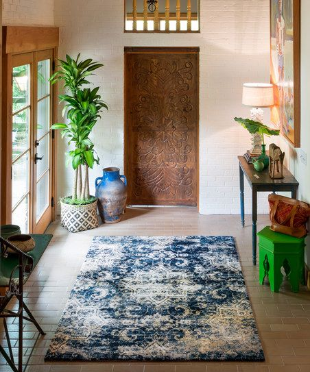 15 Top Raised Ranch Interior Design Ideas To Steal: Navy & Ivory Torrance Rug