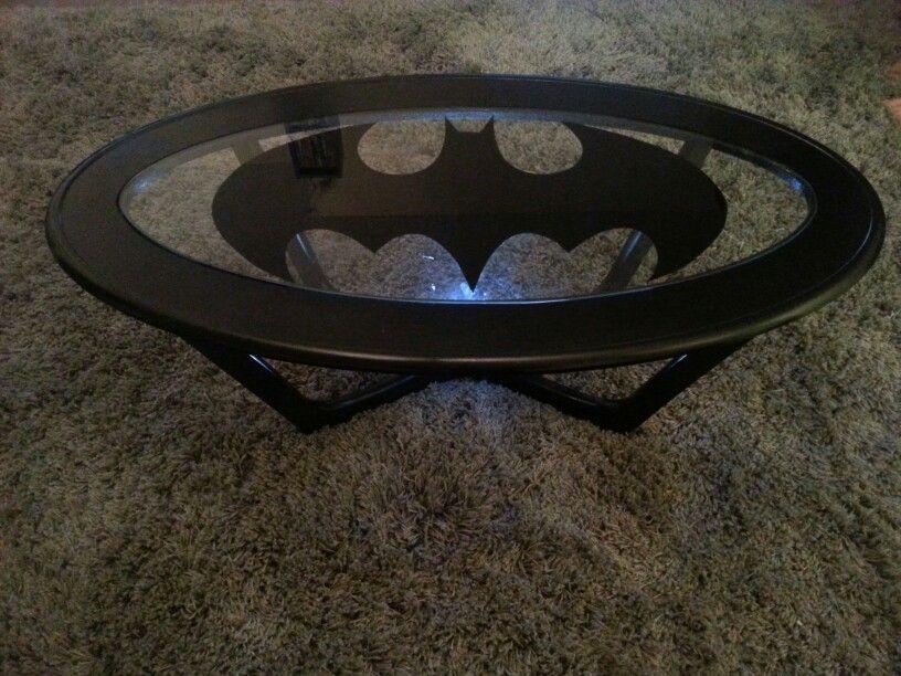 My D.I.Y. Batman Coffee Table :) - My D.I.Y. Batman Coffee Table :) For My House Pinterest
