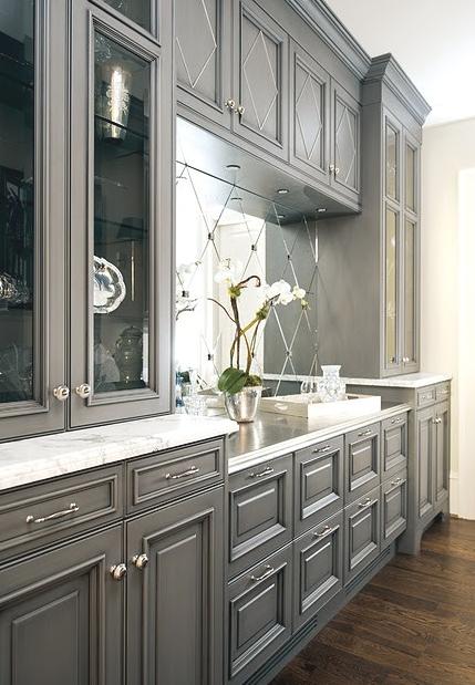 Gray cabinets are in my future.