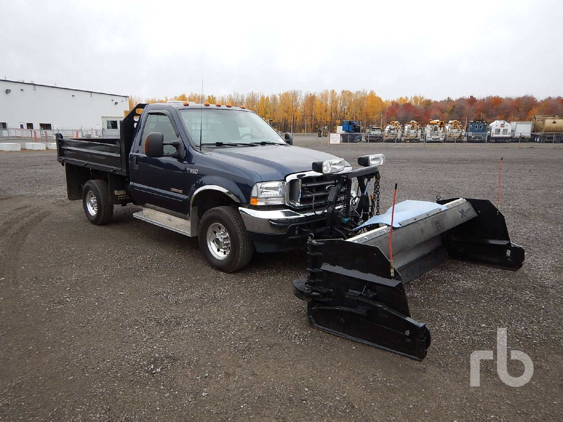 2003 ford f350 4x4 plow dump truck ritchie bros auctioneers snow plow and sander. Black Bedroom Furniture Sets. Home Design Ideas
