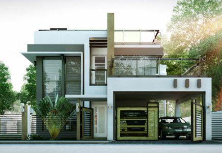 Modern House Designs Series Mhd 2014010 Pinoy Eplans 2 Storey House Design Duplex House Design 2 Story House Design