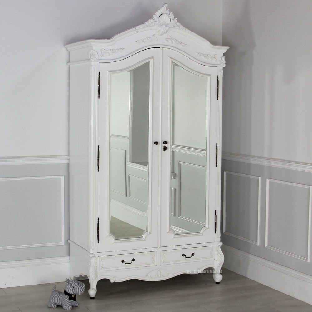 white armoire wardrobe bedroom furniture home design. Black Bedroom Furniture Sets. Home Design Ideas