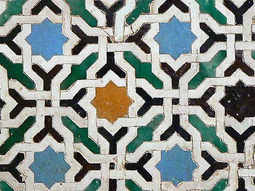 Probando grandes formatos y texturas con la alhambra andalusia