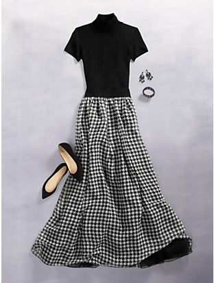 Talbots - Houndstooth Hostess Skirt     Misses Discover your new look at Talbots. Shop our Houndstooth Hostess Skirt for stylish clothing and accessories with a modern twist at Talbots