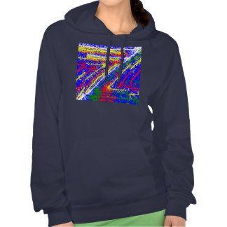 zzz ZAZZLING Abstract Art : Royal Blue Streaks Sweatshirts
