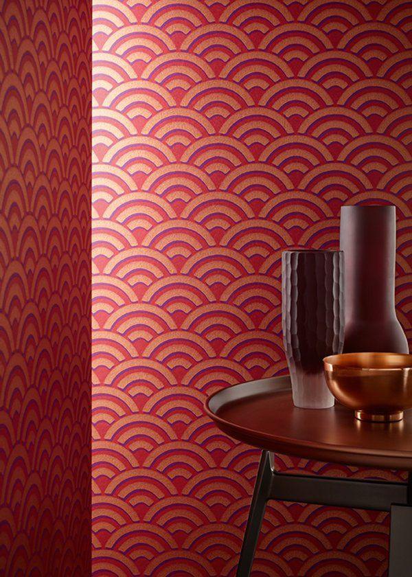 du papier peint art d co pour l 39 l gance marie claire maison decoration murale wall. Black Bedroom Furniture Sets. Home Design Ideas