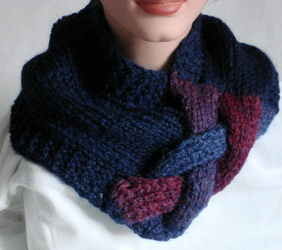 Reserved Neckwarmer Cowl Scarf Snood Knit by MermaidsHatbox ...