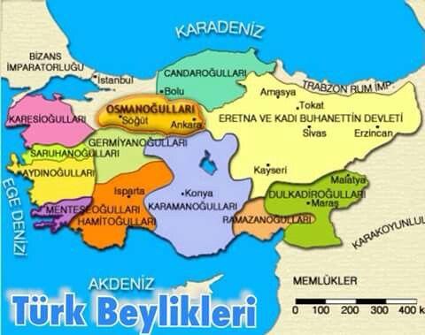 Anadolu Beylikleri Harita Cografya Haritalar