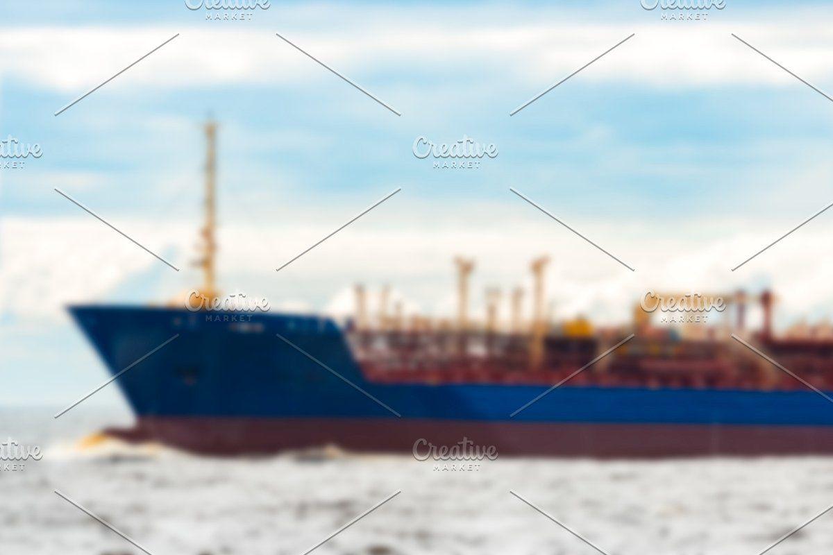 Photo of Blue cargo ship – blurred image #Sponsored , #Paid, #ship#soft#Blue#cargo