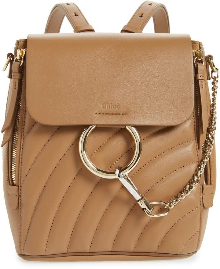aab1ee6a6f Chloé Small Faye Quilted Leather Backpack | Fleur Chic | Leather ...