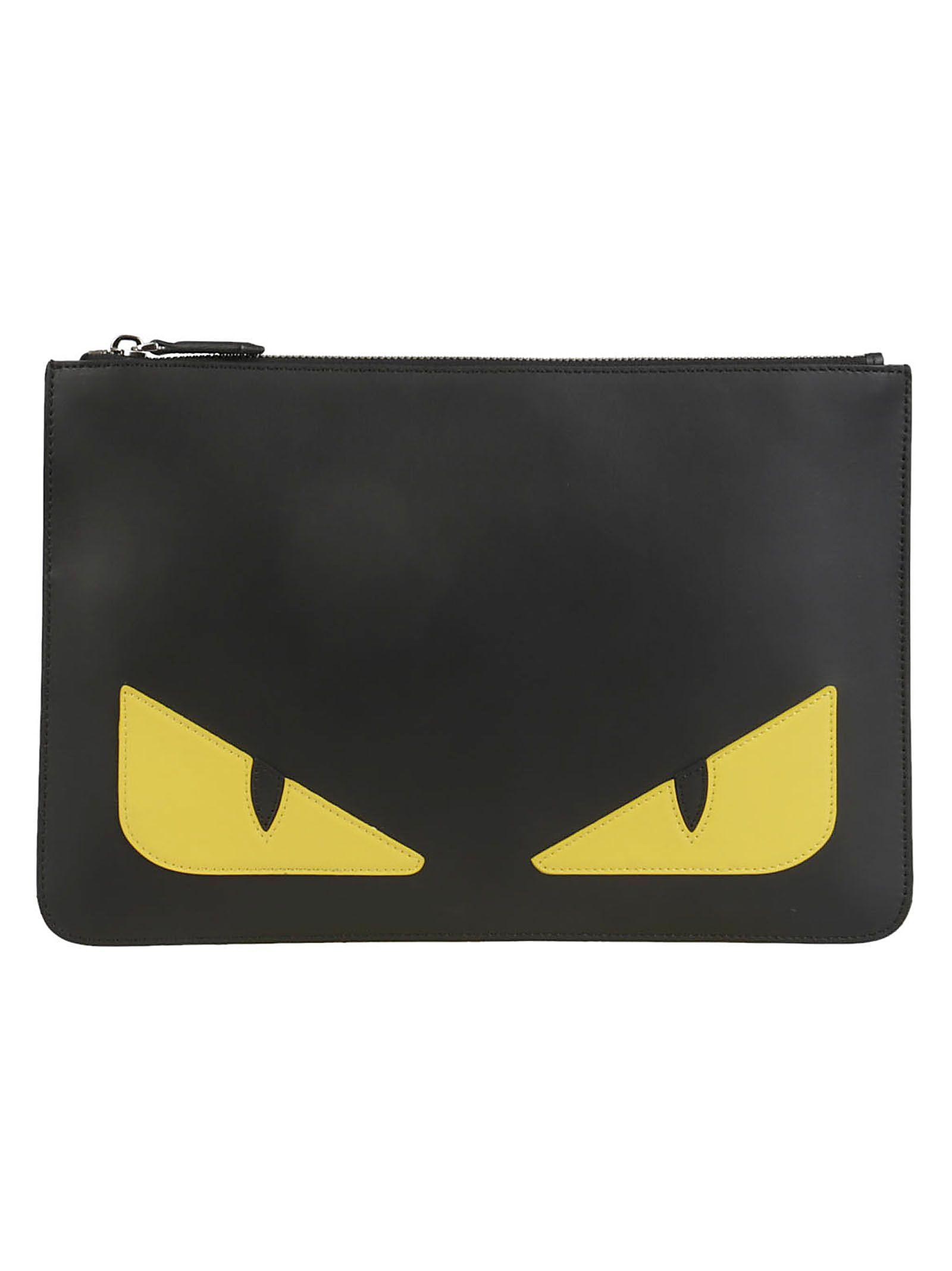 FENDI BAD BUGS CLUTCH.  fendi  bags  leather  clutch  hand bags ... c86eaa1abc4e1