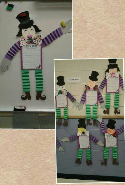 Charlie and the chocolate factory craft making willy for Puerta willy wonka