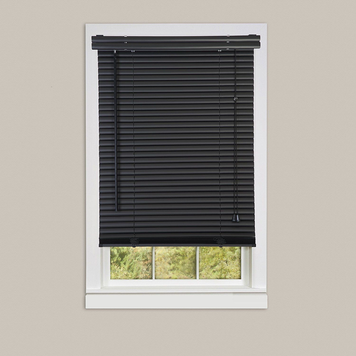 Achim Home Furnishings Morning Star 1 Inch Mini Blinds 30 By 72 Inch Black See This Great Product A Blinds For Small Windows Faux Wood Blinds Wood Blinds