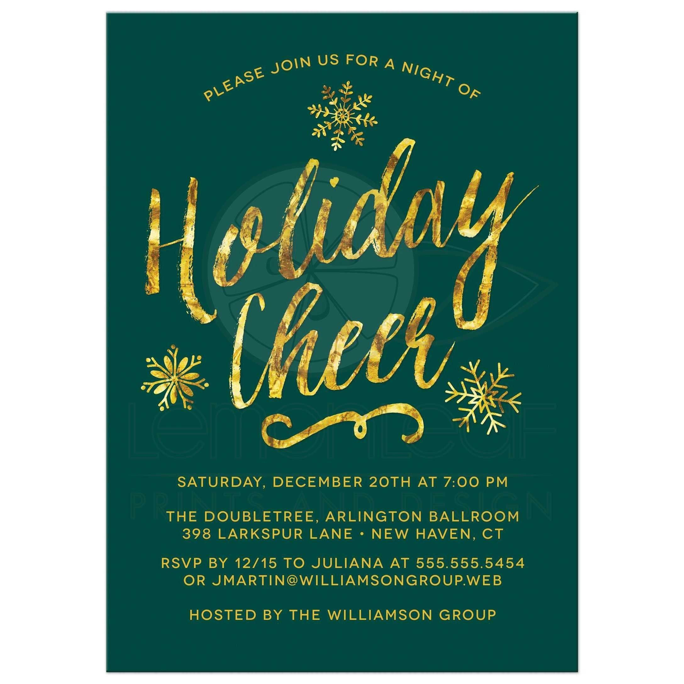 Invitation Cards For Office Party Save   Corporate holiday