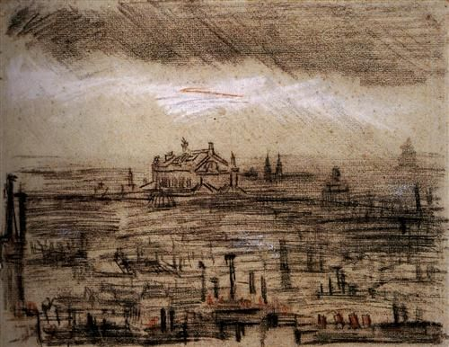A View of Paris with the Op - Vincent van Gogh
