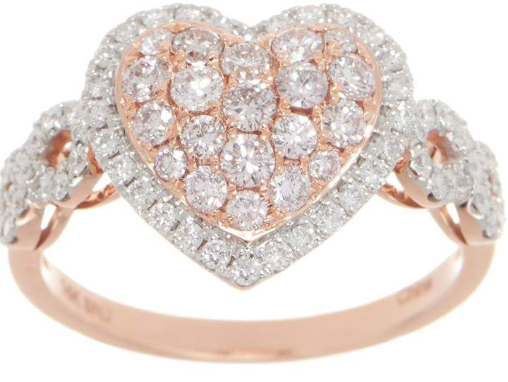 dd559bd5cafba Affinity Diamond Jewelry Affinity Diamond Natural Pink Heart Ring ...