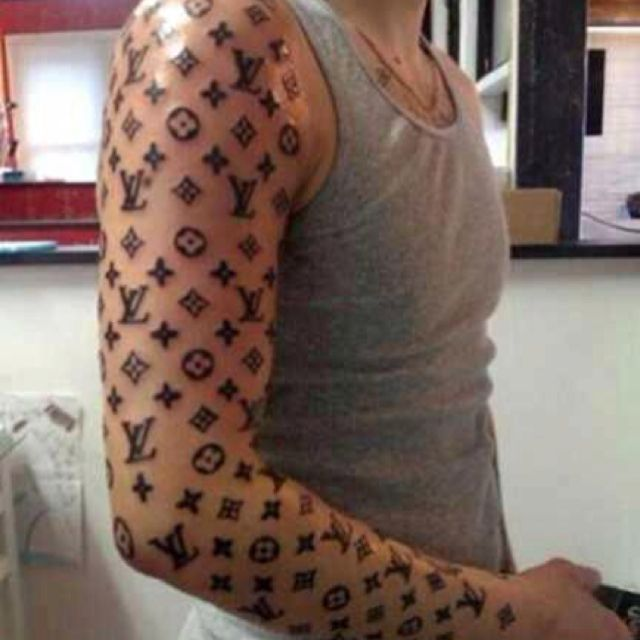 Super Cool Non-douche Bag Tattoo There Buddy. Bet You Won