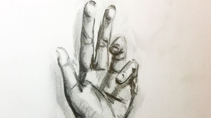 Learn how to draw a hand with a shading with this time lapse drawing.