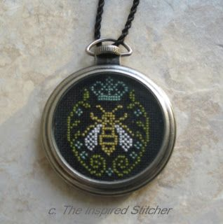 The Inspired Stitcher; Tim Holtz pocket watch from HL