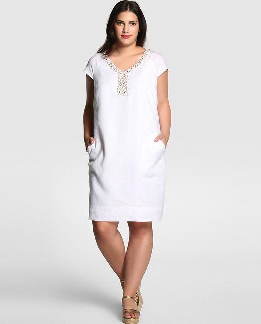Vestidos blancos cortos tallas grandes