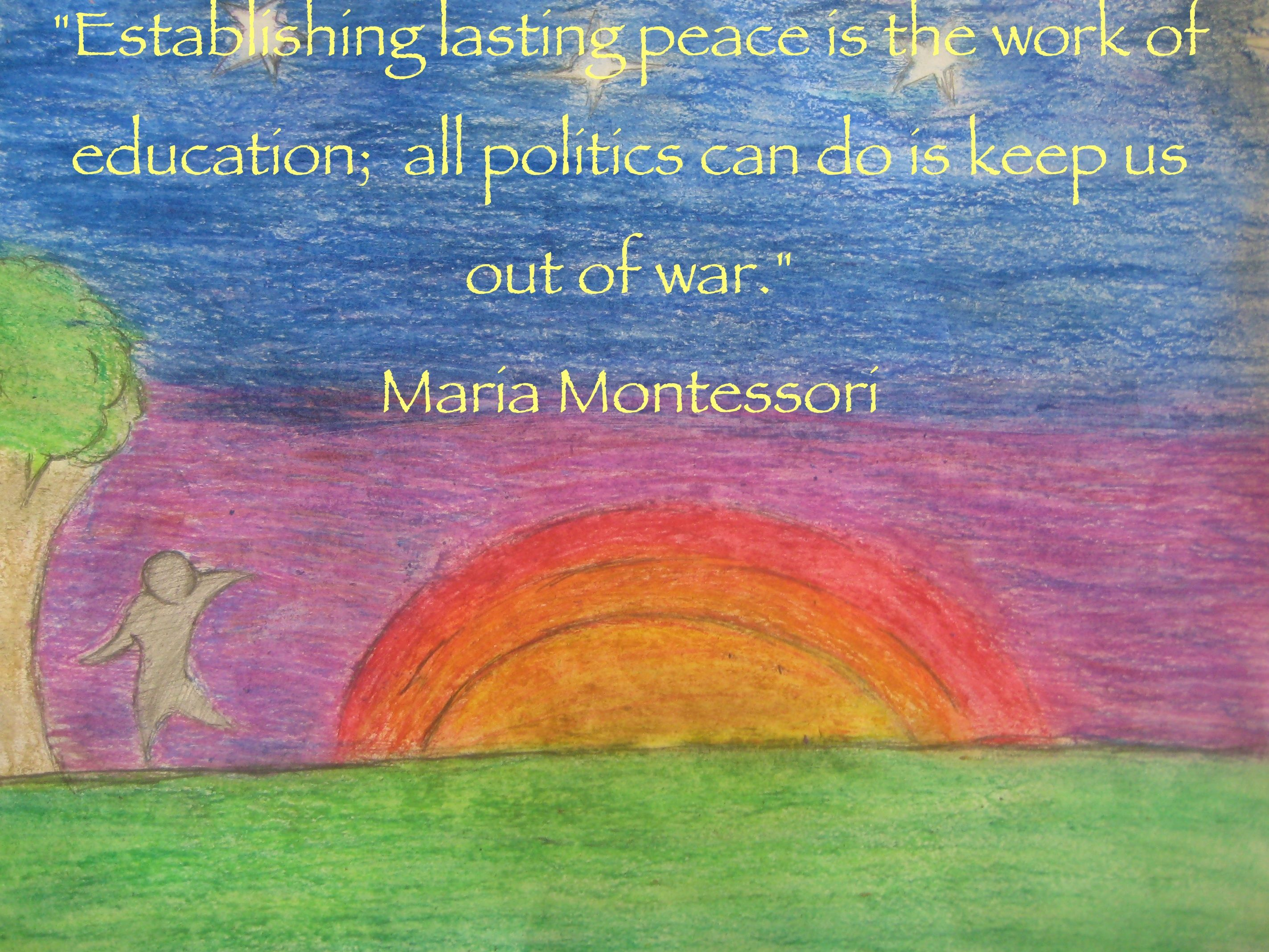 Image result for montessori quotes with images peace