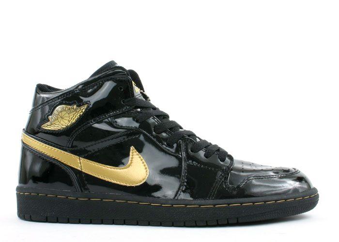 nike air jordan 1 black and gold