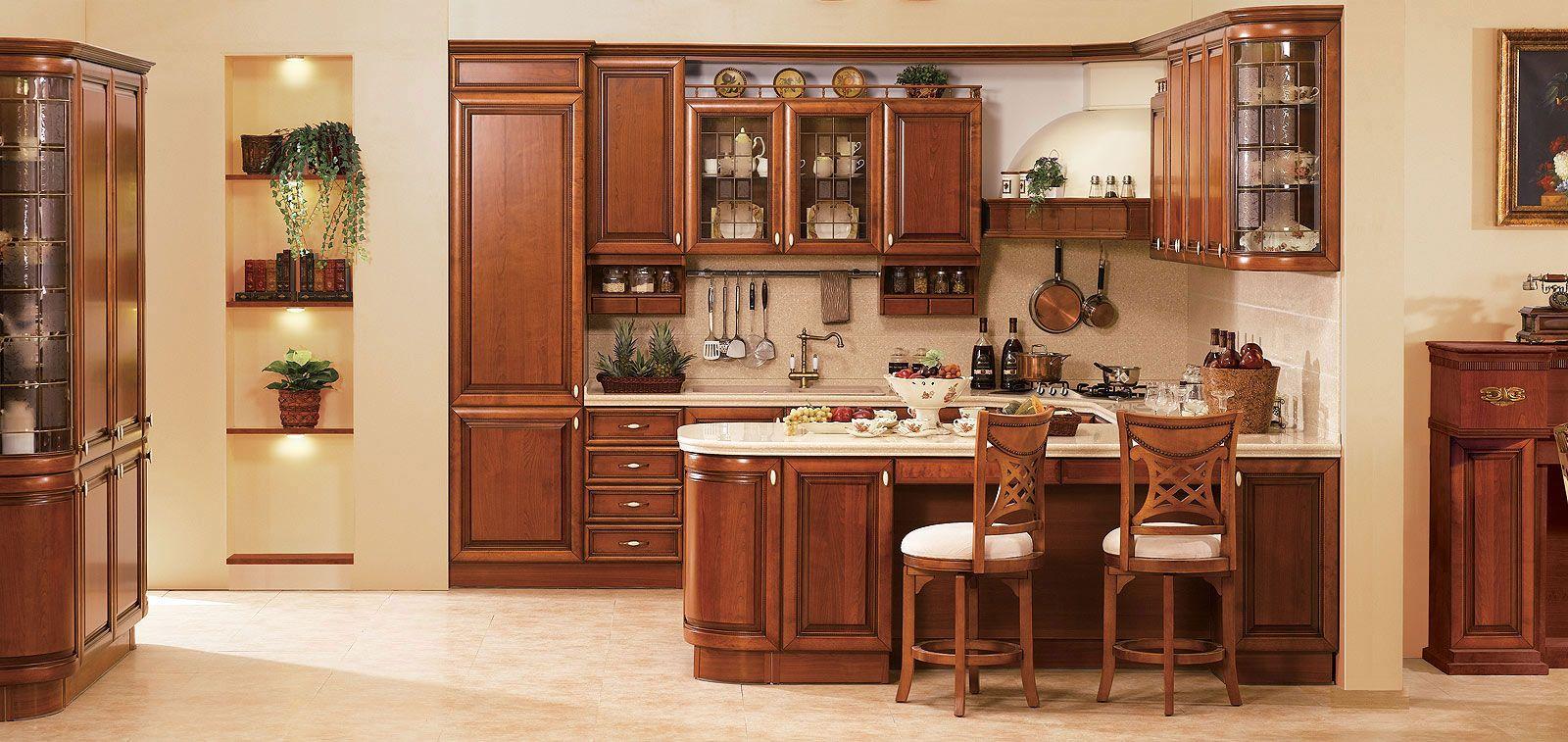 beige rustic themed modular kitchen design #lovely #kitchen
