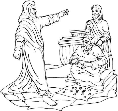 Jesus Clears The Temple Coloring Page From Jesus Mission Period