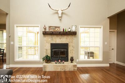 House Plan 4122WM Comes To Life In Texas Again With An Expanded Garage!