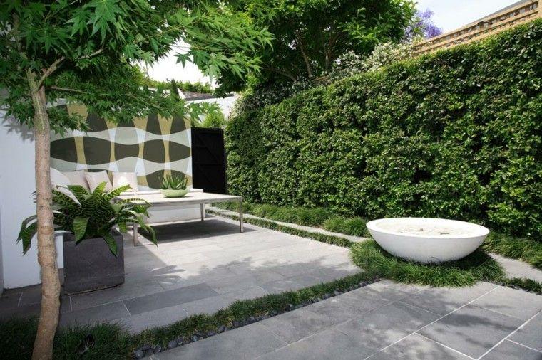 casas fuente de agua redonda para jardin pequeo diseo jardines
